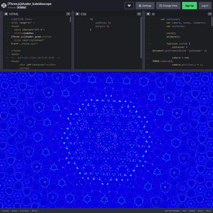 [Three.js]shader_kaleidoscope