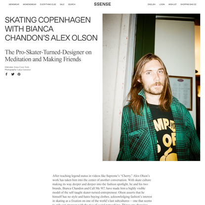 Skating Copenhagen with Bianca Chandon's Alex Olson