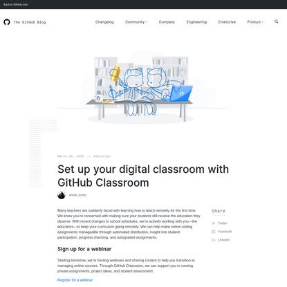 Set up your digital classroom with GitHub Classroom