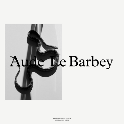 Aude Le Barbey - Photographer based in Paris