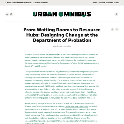 From Waiting Rooms to Resource Hubs: Designing Change at the Department of Probation | Urban Omnibus