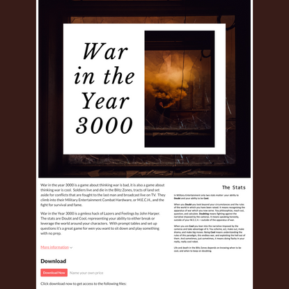 War in the Year 3000 by Ben Roswell