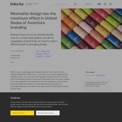 Minimalist design has the maximum effect in United Sodas of America's branding
