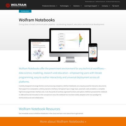 Wolfram Notebooks: Environment for Technical Workflows