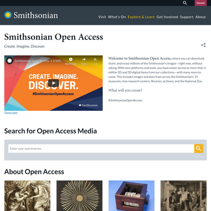 Smithsonian Open Access | Smithsonian Institution