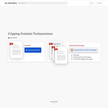 Cripping Feminist Technoscience