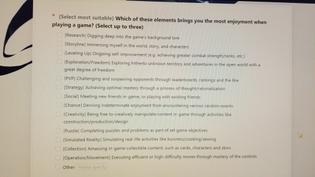 Genshin Impact player survey