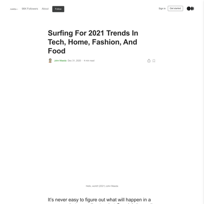Surfing For 2021 Trends In Tech, Home, Fashion, And Food