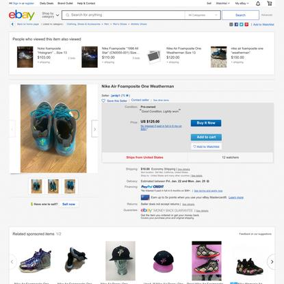 Nike Air Foamposite One Weatherman | eBay
