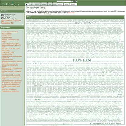 Botanicus.org - a freely accessible, Web-based encyclopedia of historic botanical literature