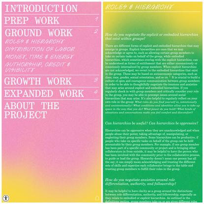 TOOLKIT - GROUND WORK