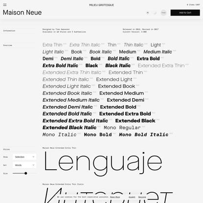Maison Neue / Milieu Grotesque / Digital Typefoundry