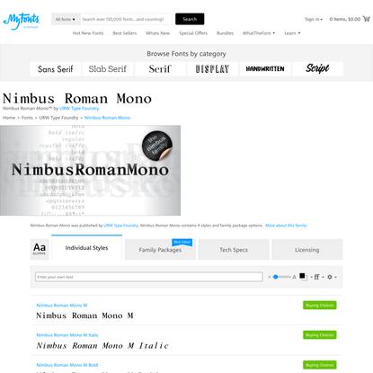 Nimbus Roman Mono | Webfont & Desktop font | MyFonts