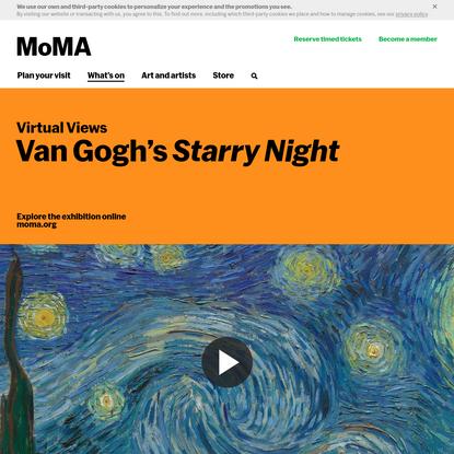 Virtual Views: Van Gogh's Starry Night   MoMA