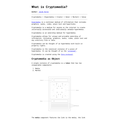 What is Cryptomedia?