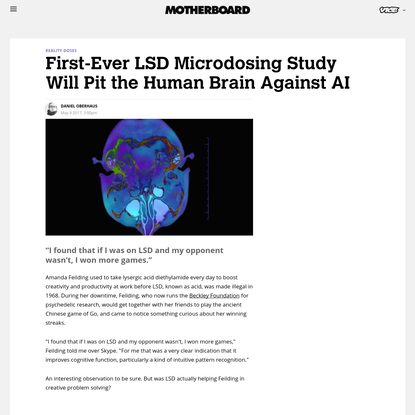 First-Ever LSD Microdosing Study Will Pit the Human Brain Against AI
