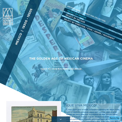 MBC INTERACTIVE ARCHIVE - Mexico: The Golden Age of Mexican Cinema