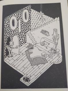 """Apartment interior from Daria Tessler's """"Cult of the Ibis"""""""