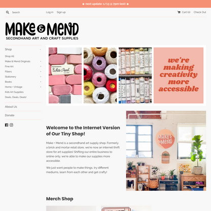 Secondhand Art and Craft Supplies ∙ Make & Mend