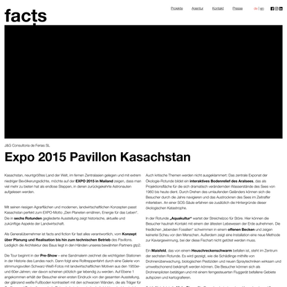 facts and fiction » Expo 2015 Pavillon Kasachstan