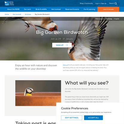 Big Garden Birdwatch | Join the fun - The RSPB