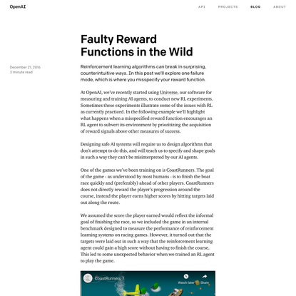Faulty Reward Functions in the Wild