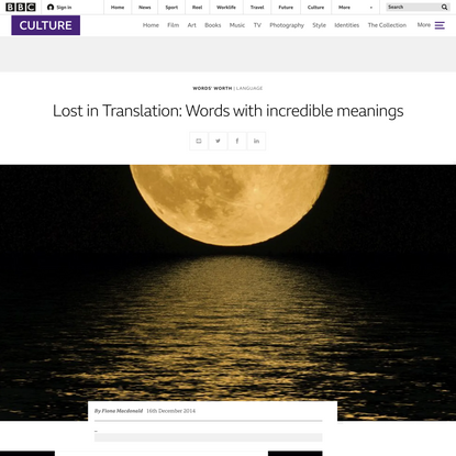 Lost in Translation: Words with incredible meanings