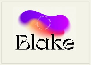 Blake Display Typeface