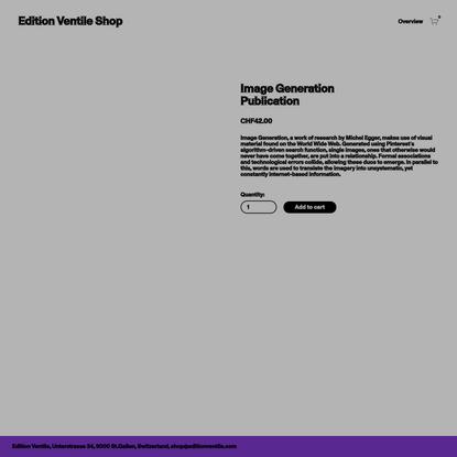 Image Generation Publication — Edition Ventile Shop