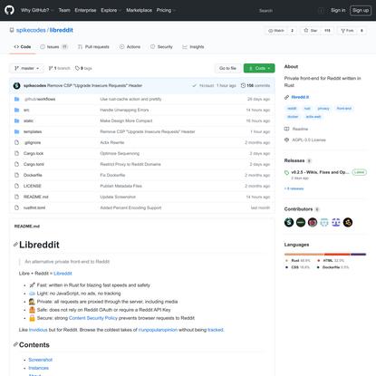 spikecodes/libreddit