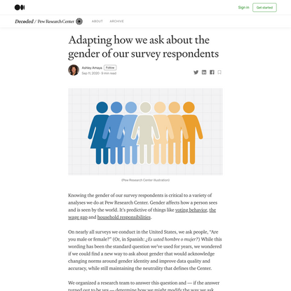 Adapting how we ask about the gender of our survey respondents