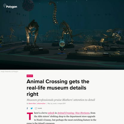 Animal Crossing gets the real-life museum details right