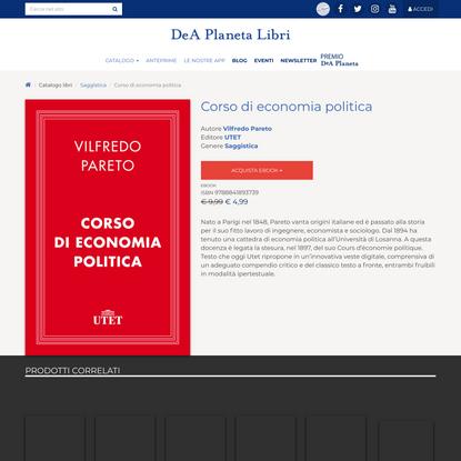 Corso di economia politica di Vilfredo Pareto