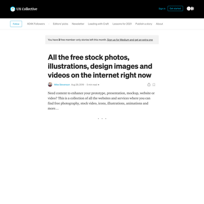 All the free stock design images and videos on the internet right now