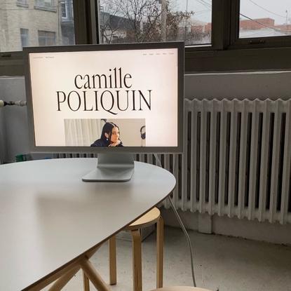 "Office of Demande Spéciale on Instagram: ""(FR) Petit site web pour Camille Poliquin aka @kroyyyyyyyyyyyy web dev par @laura..."