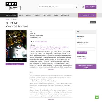 Duke University Press - M Archive