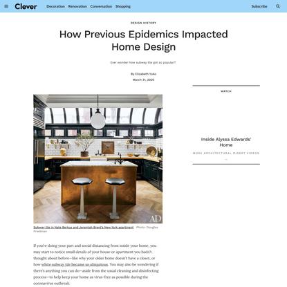 How Previous Epidemics Impacted Home Design