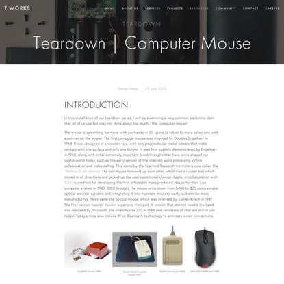 Teardown | Computer Mouse — T Works