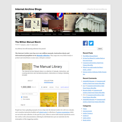 The Million Manual March - Internet Archive Blogs