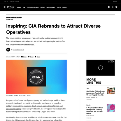 Inspiring: CIA Rebrands to Attract Diverse Operatives