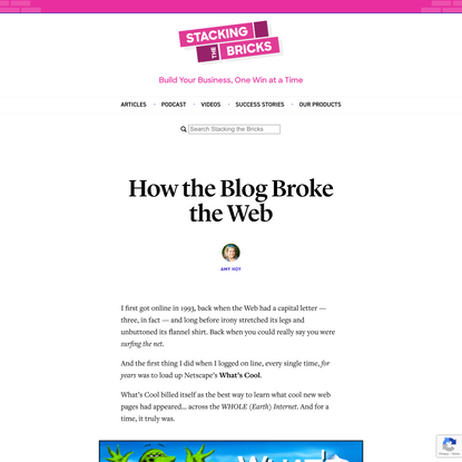 How the Blog Broke the Web