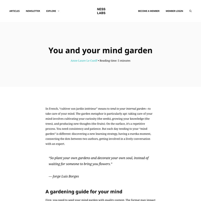 You and your mind garden