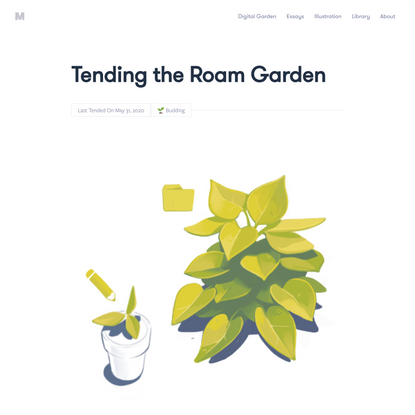 Tending the Roam Garden