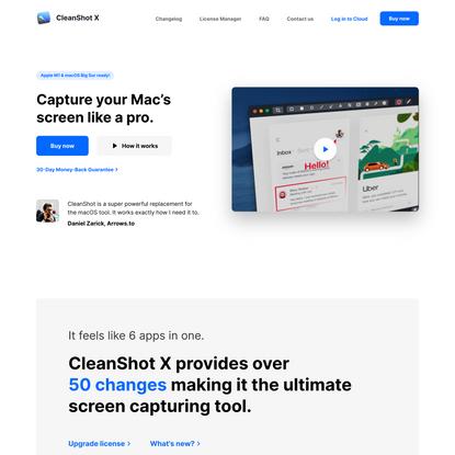 CleanShot X for Mac