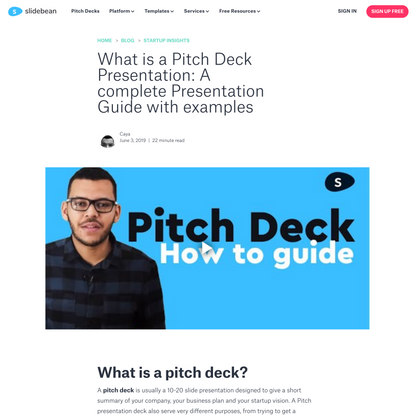 What is a Pitch Deck Presentation: A complete Presentation Guide with examples