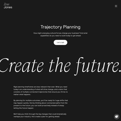 Zeus Jones | Trajectory Planning