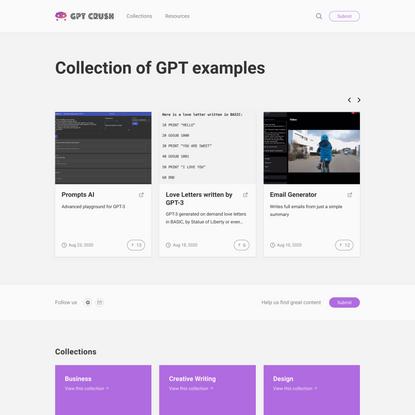 GPT Crush – Demos of OpenAI's GPT