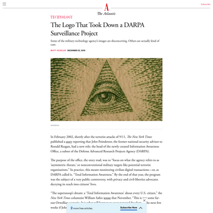 The Logo That Took Down a DARPA Surveillance Project