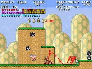 Infinite Mario AI: Mario follows Mouse