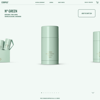 Nº Green   Natural Deodorant   CORPUS® – Corpus Naturals